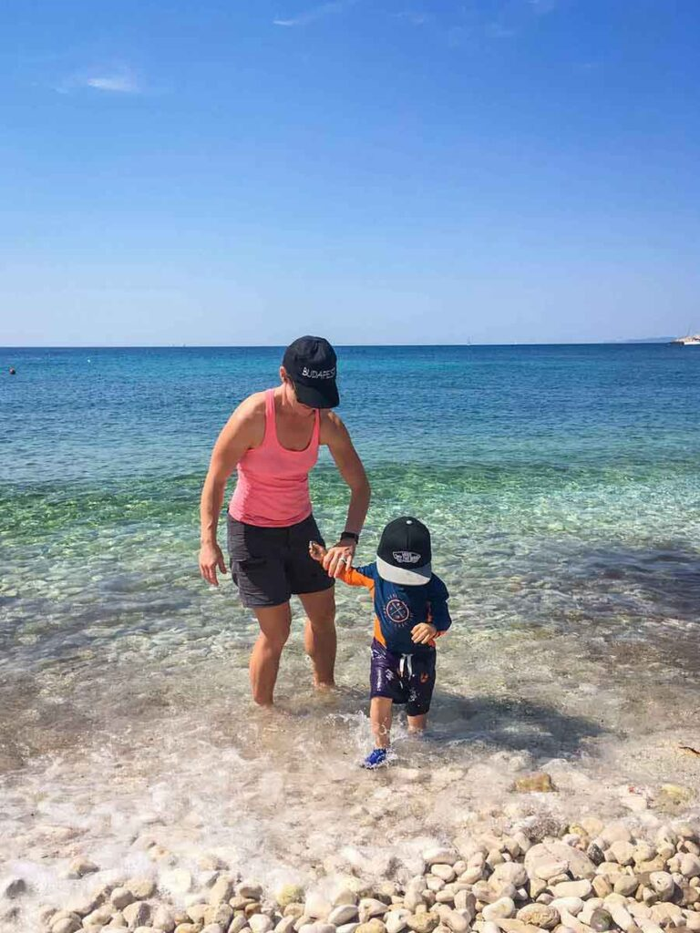 Best Beaches on Hvar with kids - milna beach hvar