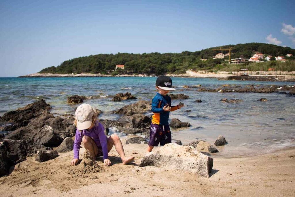 best beaches on Korcula with kids - Przina Beach
