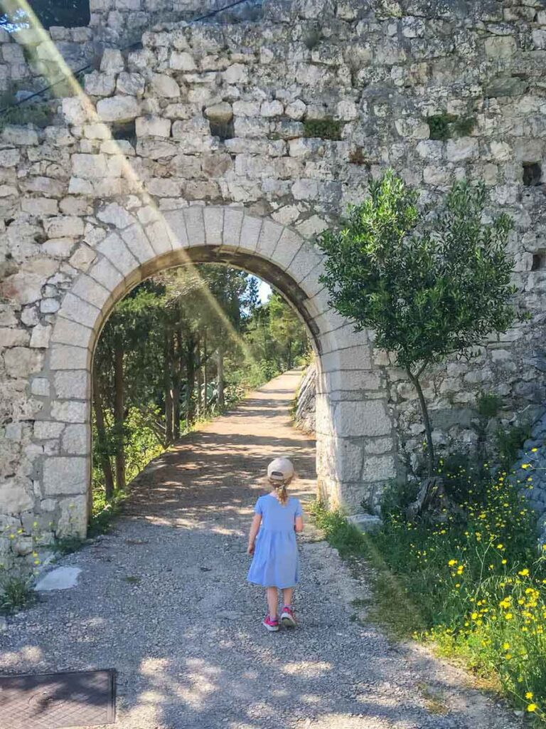 Walking Path to Fortress on Hvar Croatia - what to do in Hvar with kids