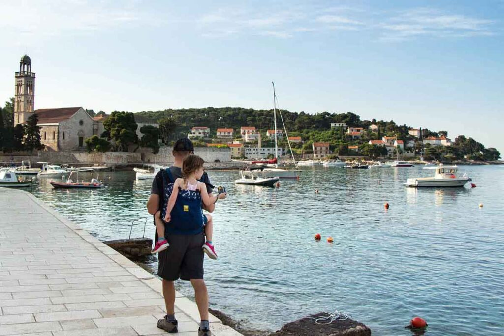 Walking from Hvar town to Milna Beach with Kids