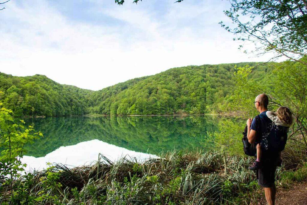Hiking Plitvice Lakes Croatia with kids