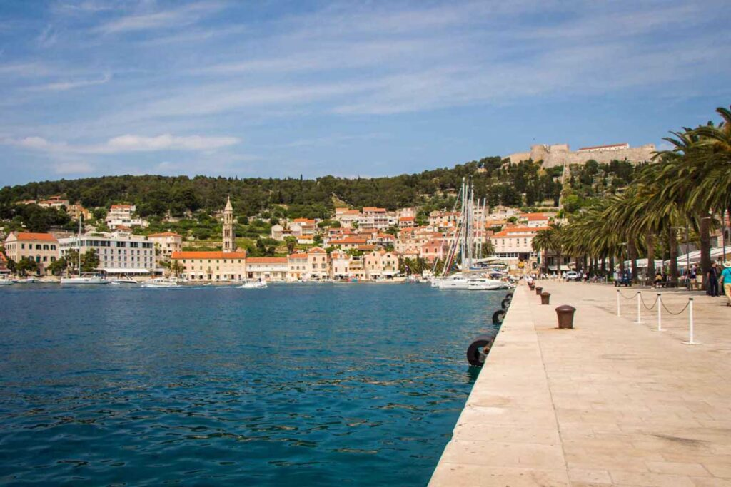 taking a ferry from hvar to korcula