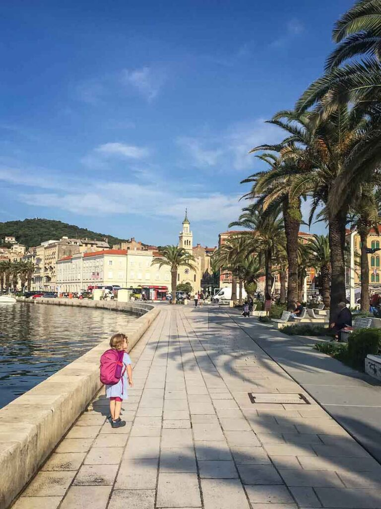 Taking Ferry from Split to Hvar with Kids