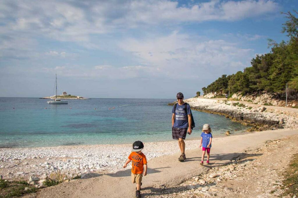 Hvar hiking with kids to best beaches on hvar Island