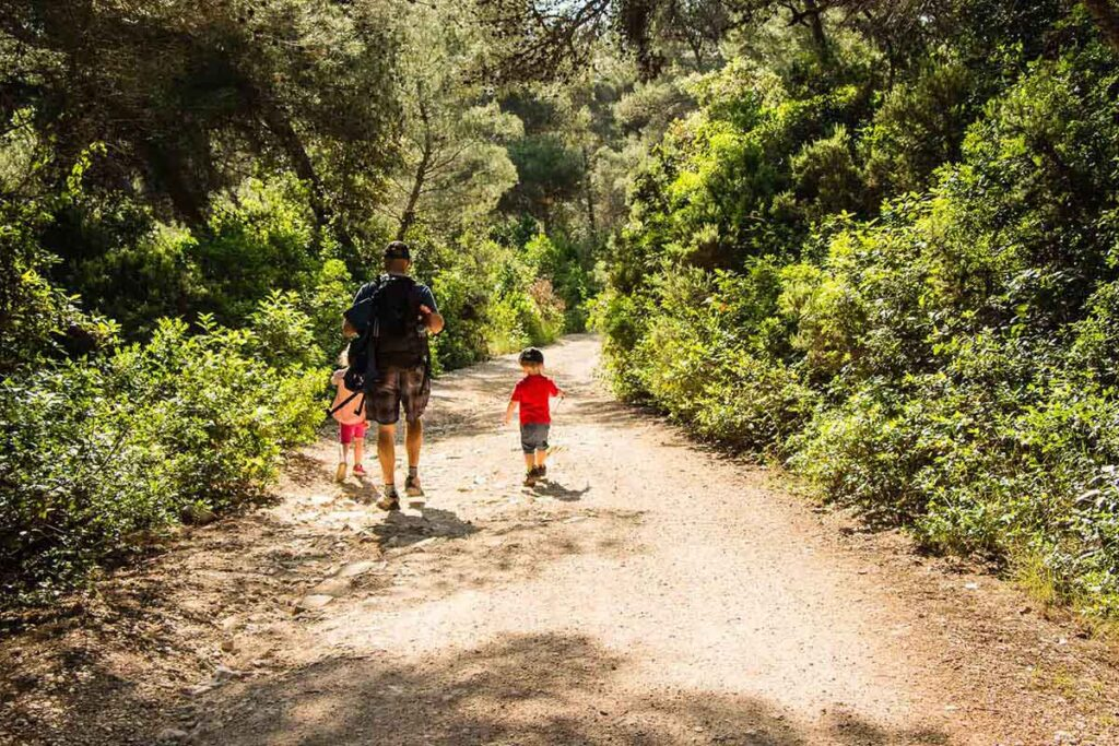 Hike to Peninsula Raznjic from Lumbarda on Korcula, Croatia with Kids