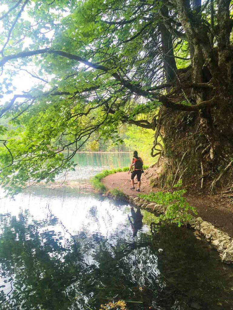 On our Croatia family vacation we loved hiking Plitvice Lakes with a toddler