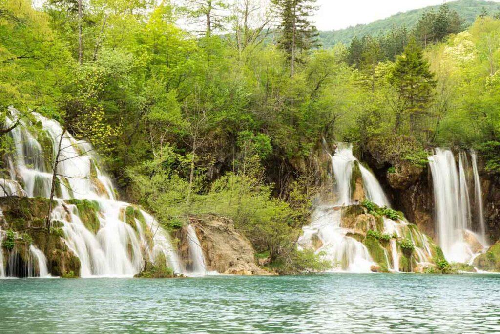 Waterfalls at Plitvice Lakes Croatia