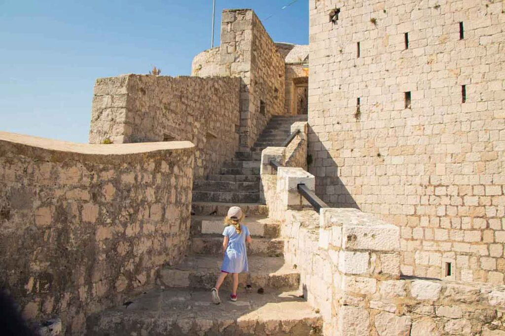 Visiting the Fortress Hvar Croatia with Kids