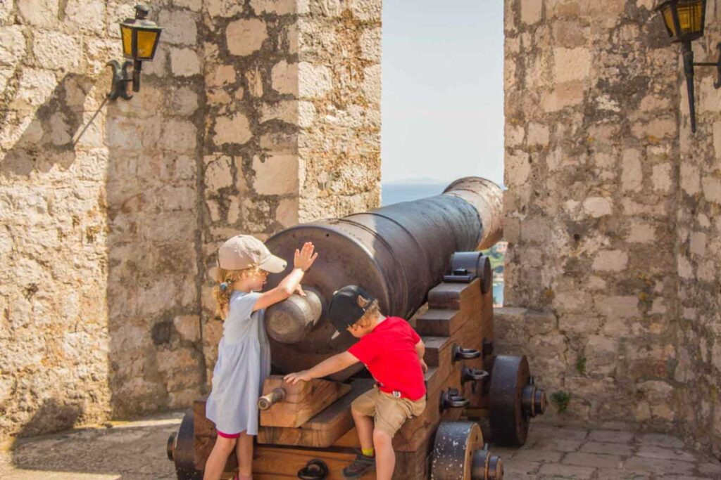 The Hvar Fortress is one of the best things to do in Croatia with kids