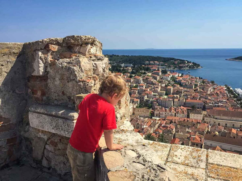 View from Fortress on Hvar Island Croatia - things to do on Hvar for families