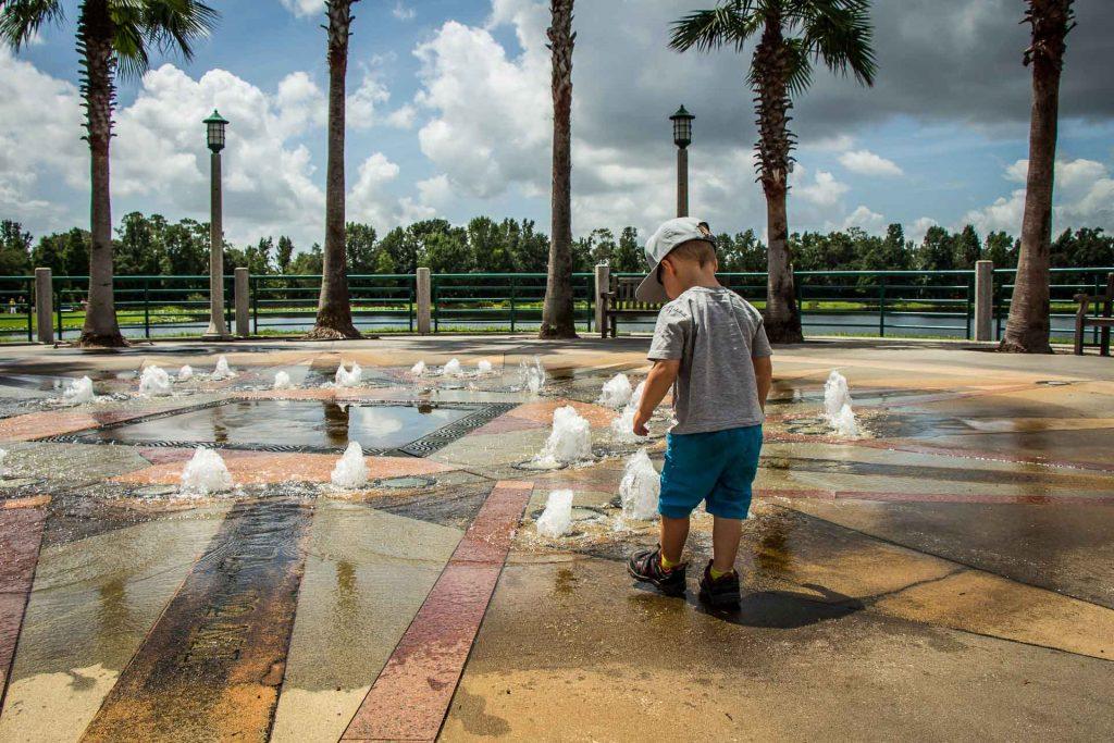 Fun things to do besides Disney in Orlando with kids - splash park in Celebration, Florida