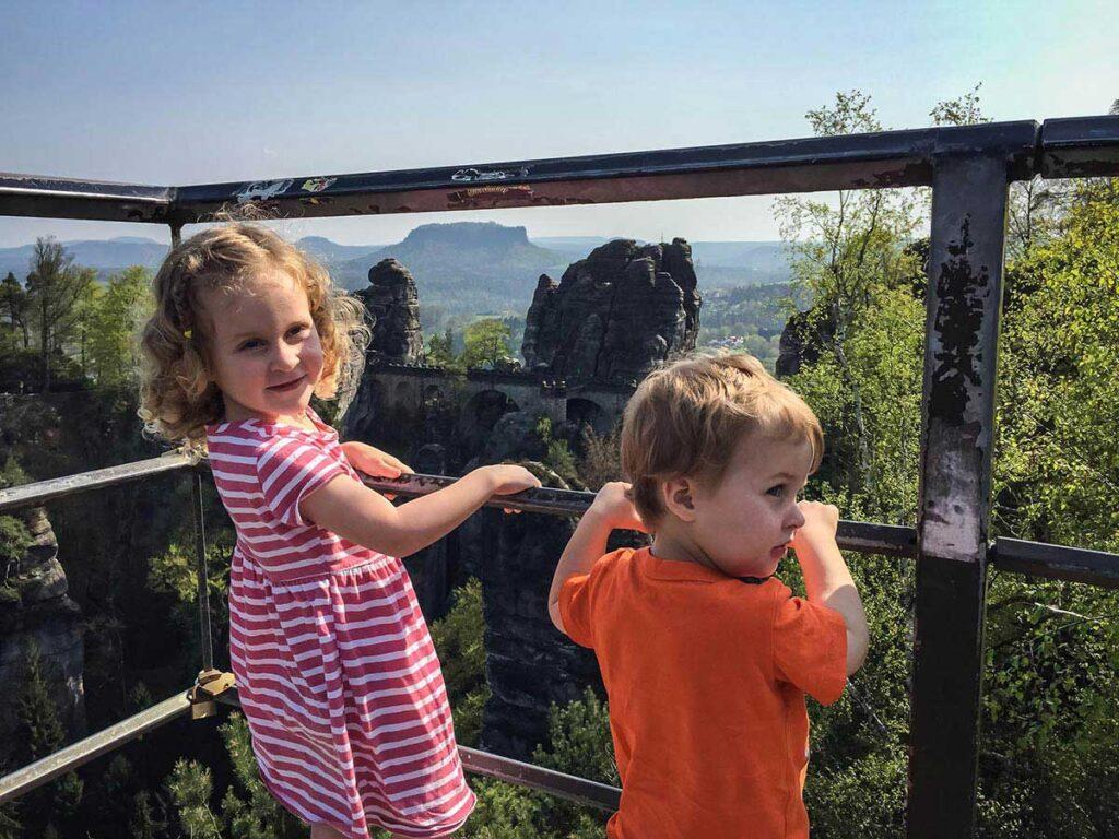 Bastei Bridge in Saxon Switzerland National Park with Kids