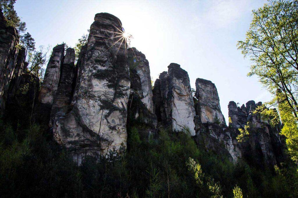 Prachov Rocks in Bohemian Paradise Czech Republic