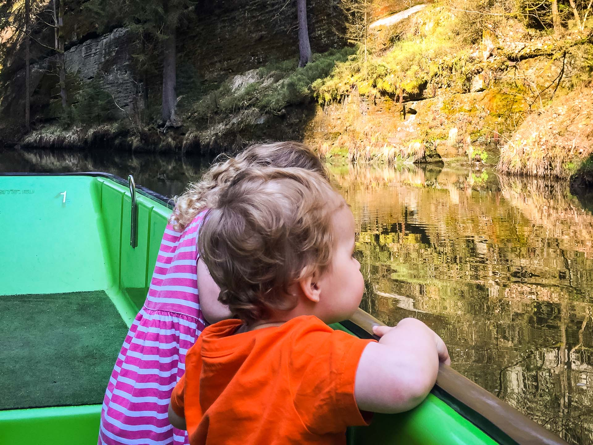 Boat ride in Edmond Gorge with Children - Bohemian Switzerland in Czech Republic