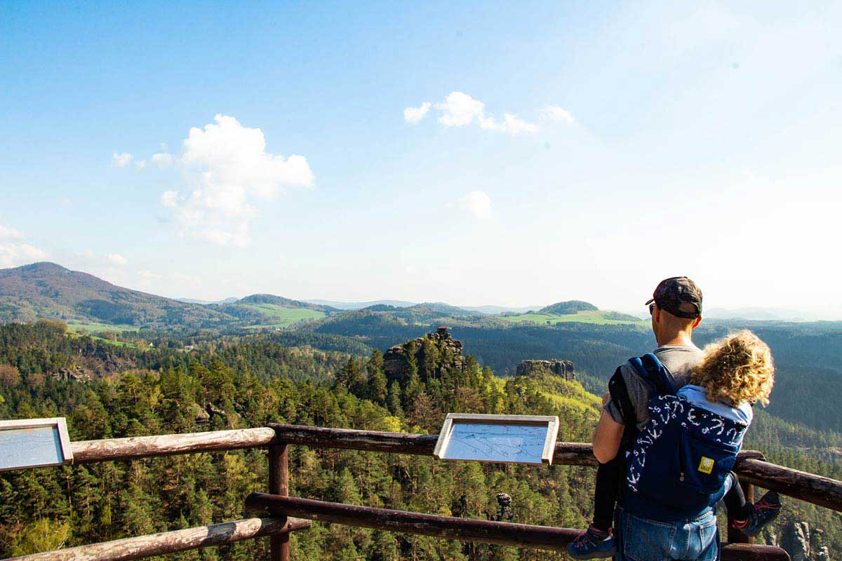Hiking Bohemian Switzerland National Park with Kids