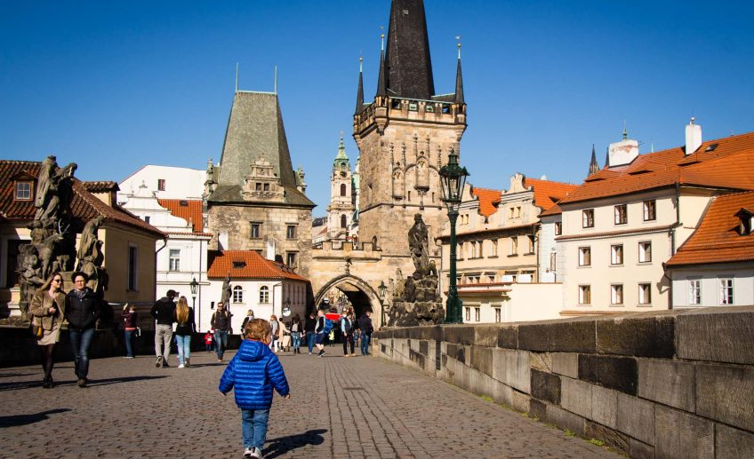 Charles Bridge in Prague With Kids