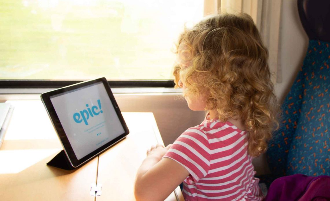 Epic Digital Library for Travel with children