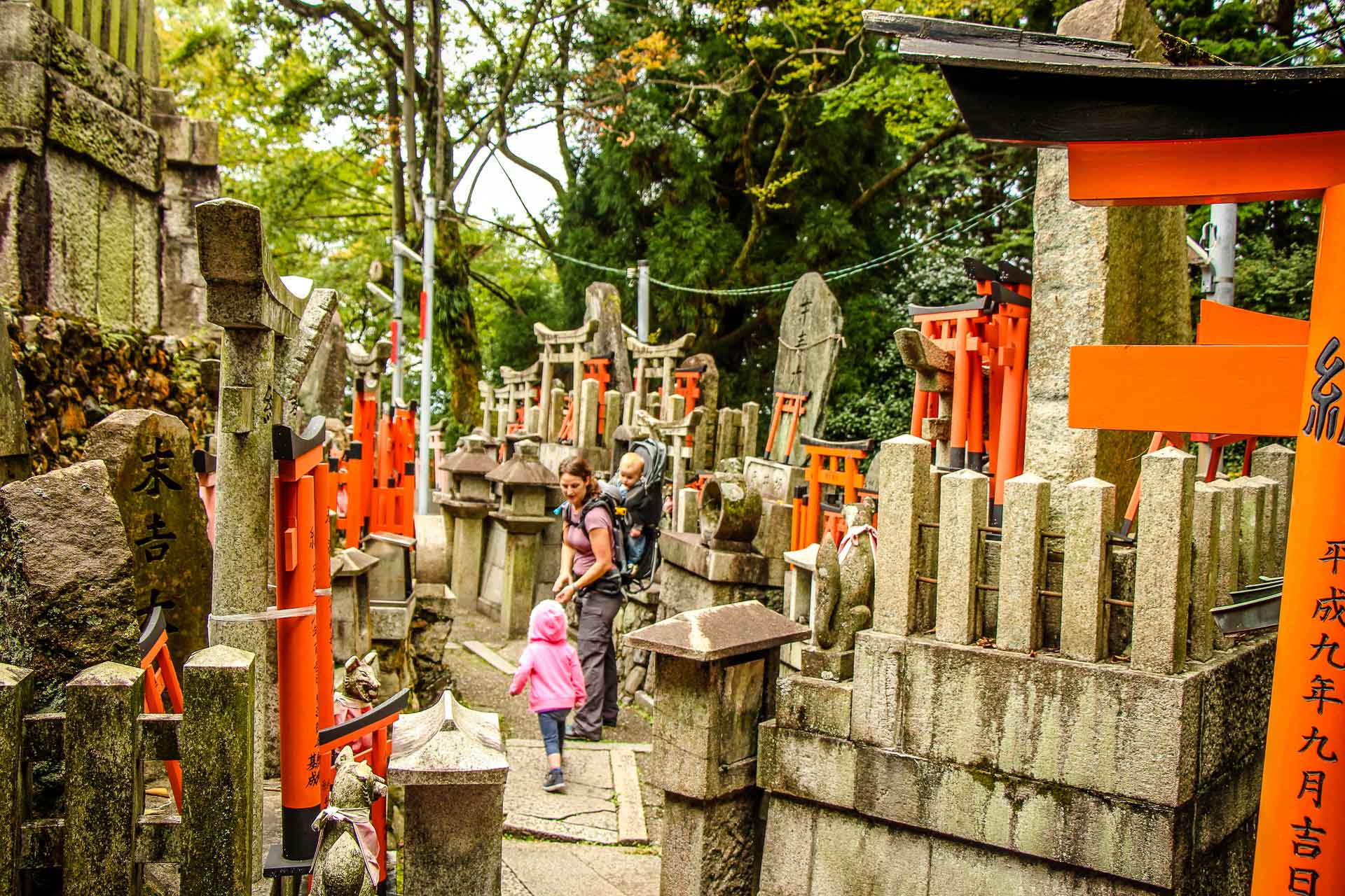 Fushimi Inari Kyoto with children