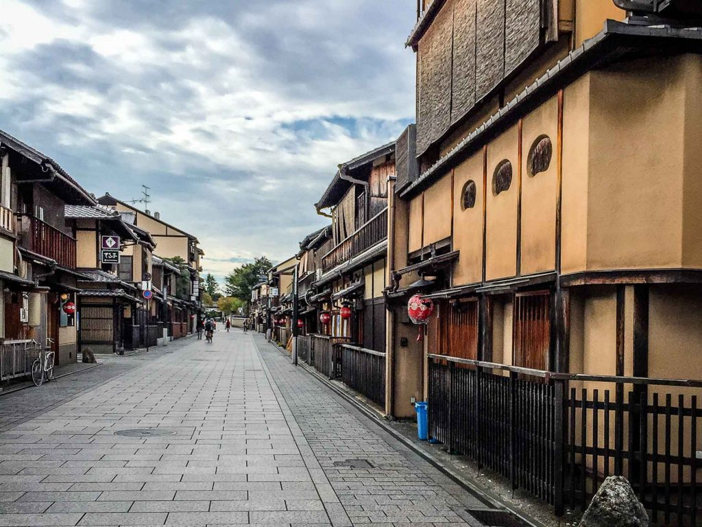 Visiting the Gion District in Kyoto, Japan is a different experience in the morning