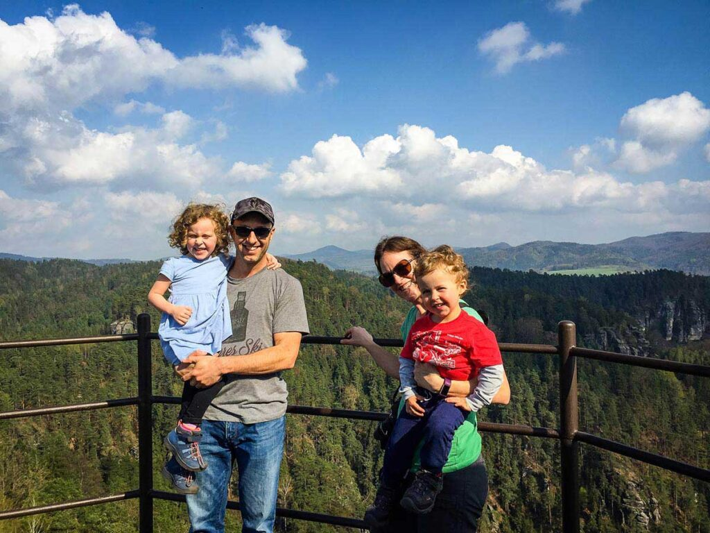 Mariina Vyhlidka lookout hike in Bohemian Switzerland National Park with Kids