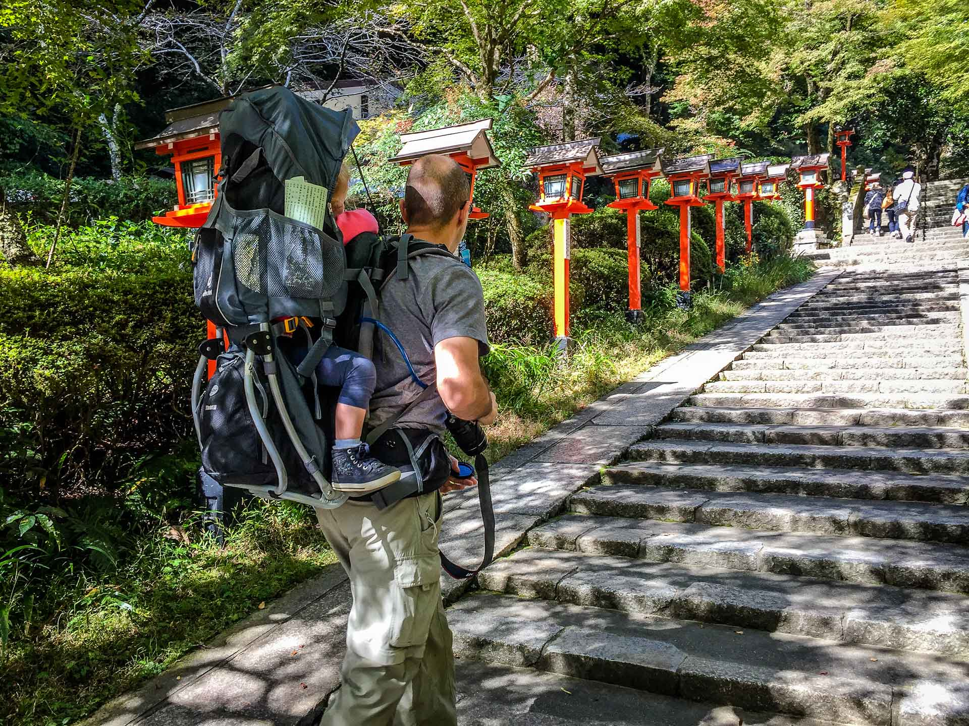 Hiking Kurama to Kibune Kyoto Japan with kids