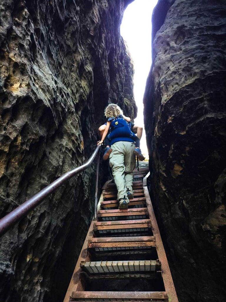 Hiking Tisa Walls in Bohemian Switzerland with Kids