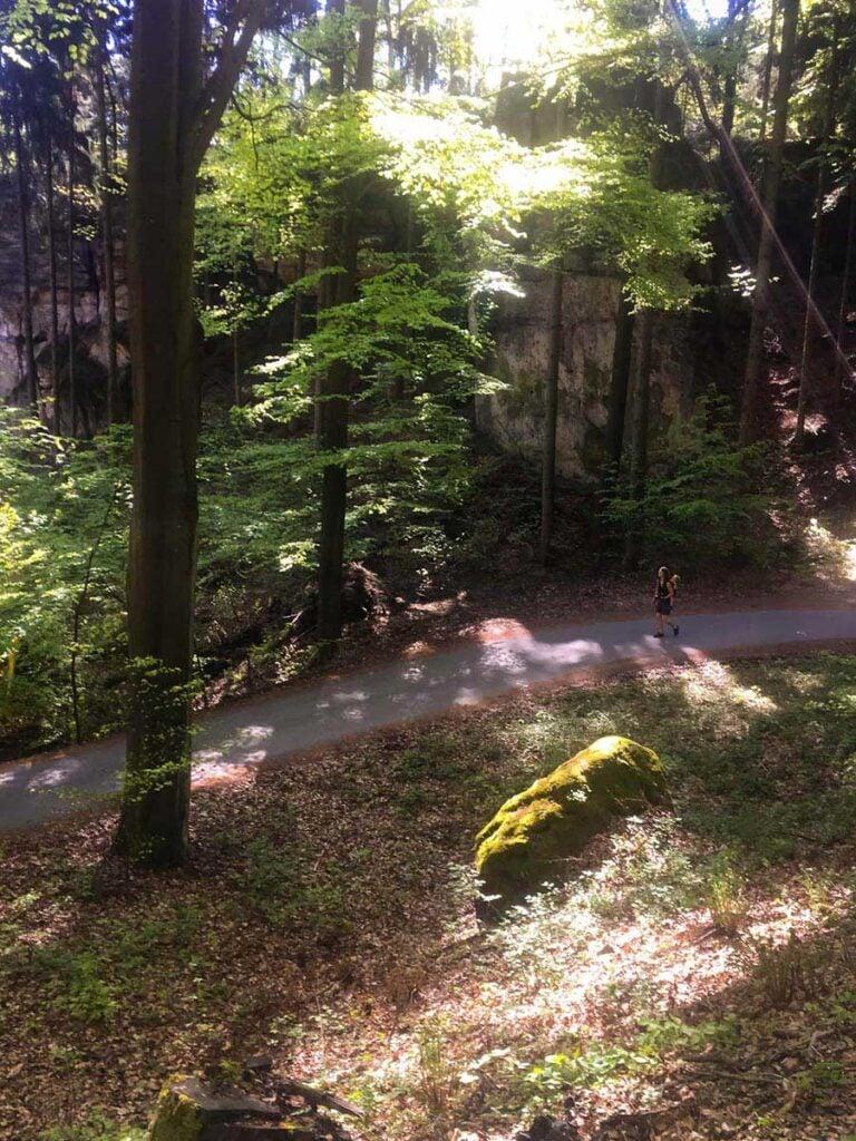 hike in Bohemian Paradise near Valdstejn Castle
