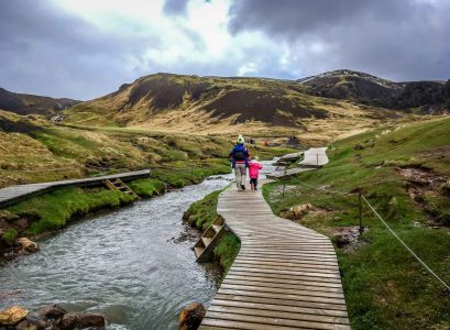 Hveragerði Hot Springs River Trail Golden Circle Iceland with kids