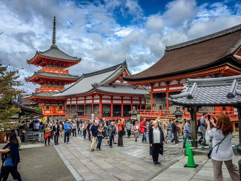 The Kiyomizu-dera Temple is a very popular thing to do in Kyoto with kids