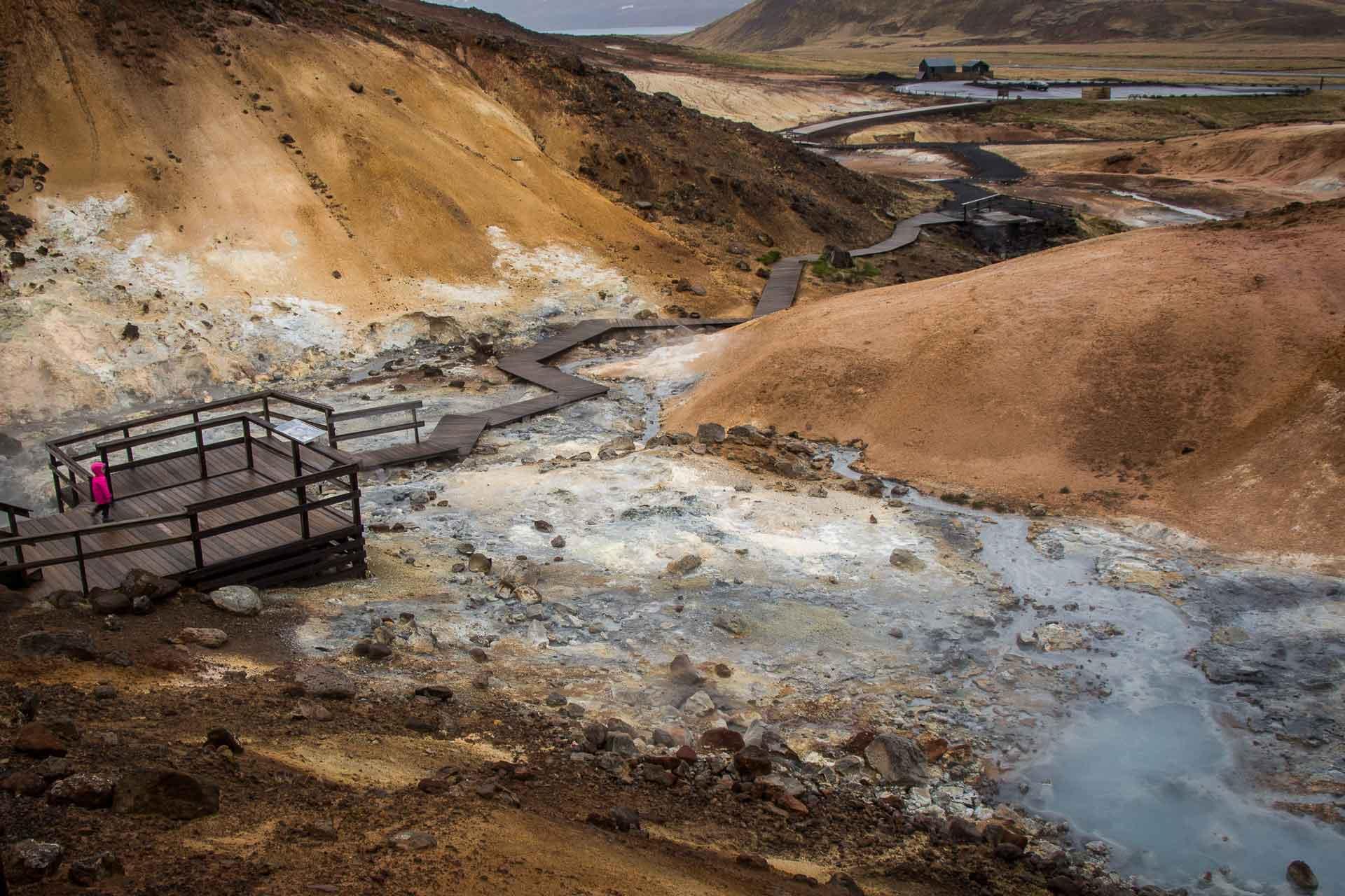 Krýsuvík geothermal field Reykjavik Iceland with kids