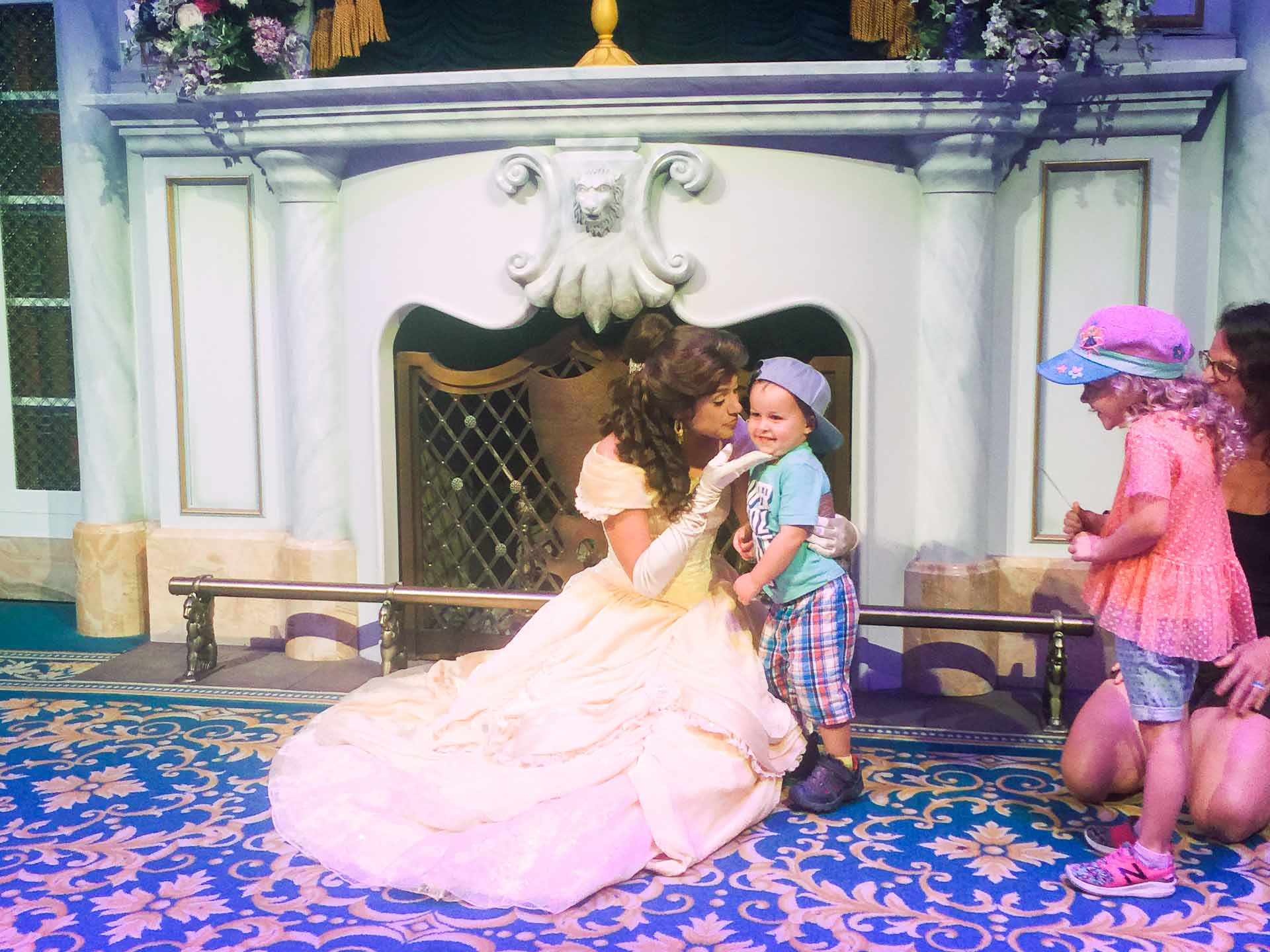 best princess experiences at Disney World - Meeting Belle