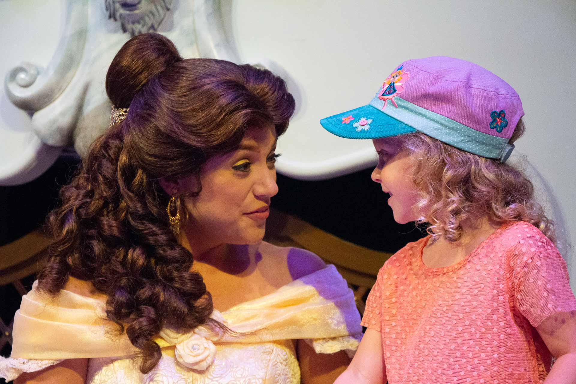 Meeting Belle at Walt Disney World