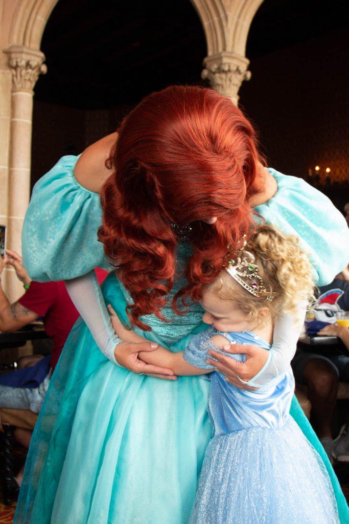 meeting ariel at disney world - Cinderella's Royal Table princess experience