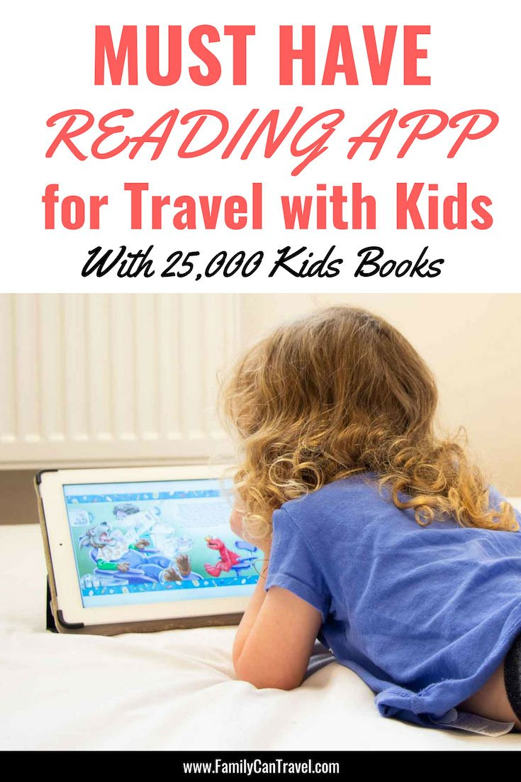 Looking for a reading app for travel with kids? The Epic! Digital library is a must have travel app! Leave all those books behind & pack lighter for your next trip with kids! #familytravel #travelapp || Travel with Kids | Travel Apps for Kids | Reading App | Packing | Epic books