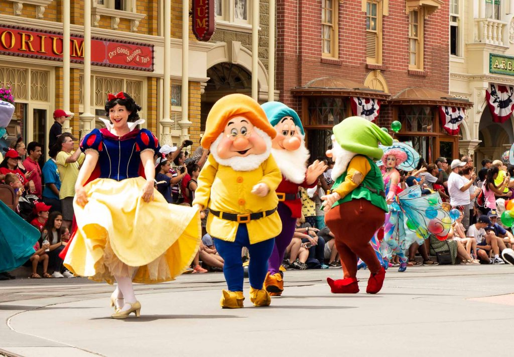 Best princess experiences at Disney World - See Disney princesses Ariel, Rapunzel, Aurora (Sleeping Beauty), Anna, Elsa, Tiana, Snow White and Cinderella in the Festival of Fantasy Parade with VIP seats