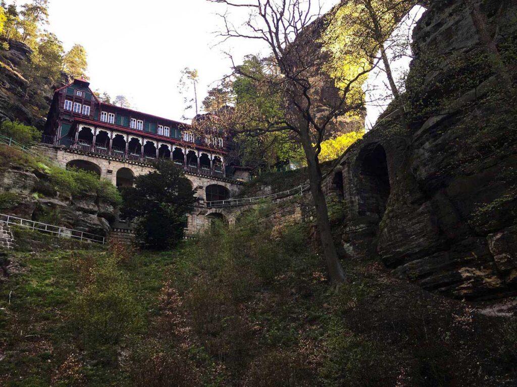 sandstone archway Prebischtor Gate (Pravcicka Brana)  - Where to Stay in Bohemian Switzerland