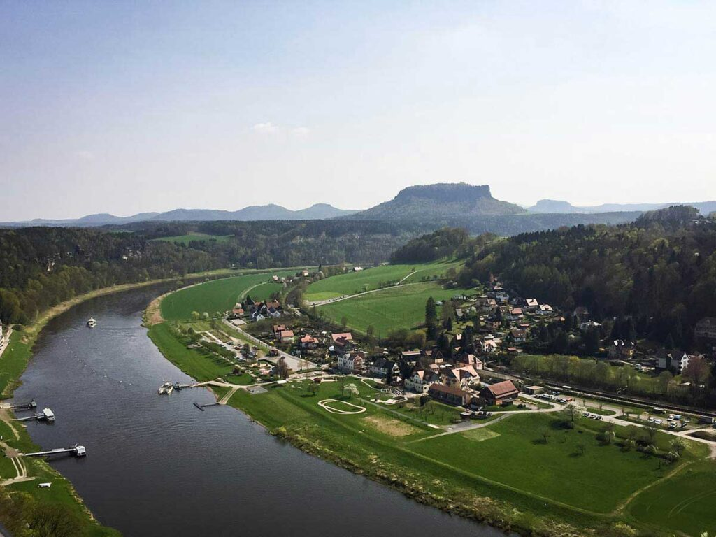 View of Saxon Switzerland National Park in Germany