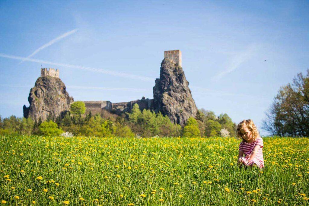 Trosky Castle in Cesky Raj Czech Republic with Kids