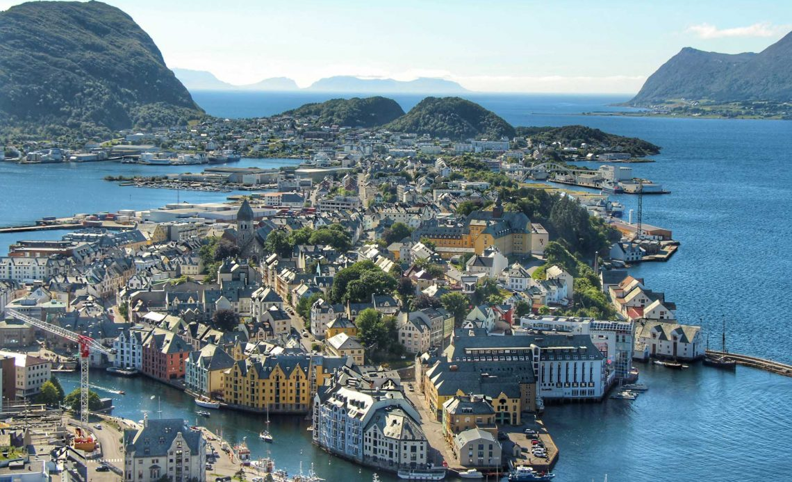 Alesund Norway with small children