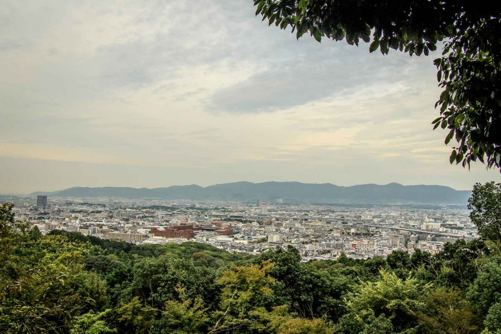The view from Fushimi Inari Kyoto
