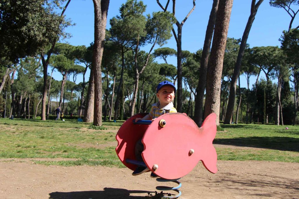 Villa Borghese Park is the best place to fin playgrounds in Rome while visiting Rome with kids
