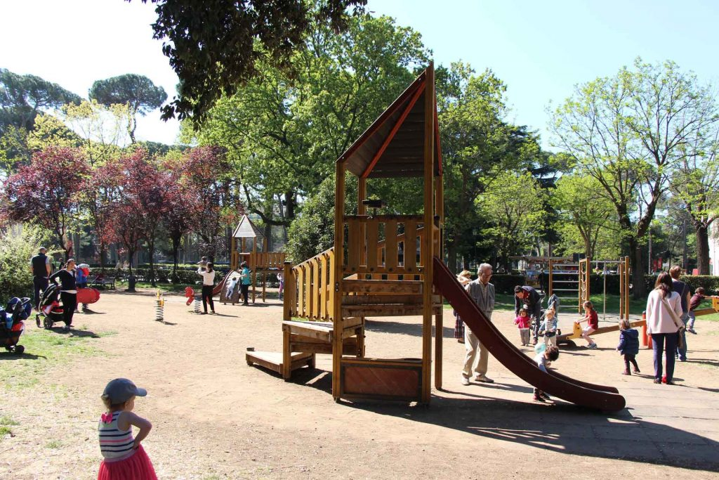 This Villa Borghese playground is one of the best playgrounds in Rome