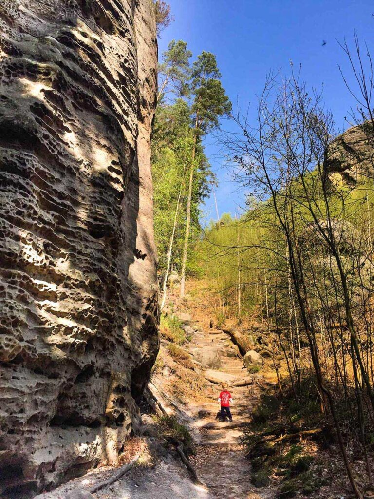 Mariina Vyhlidka Lookout - Bohemian Switzerland Hiking Trail in Czech Republic with a toddler