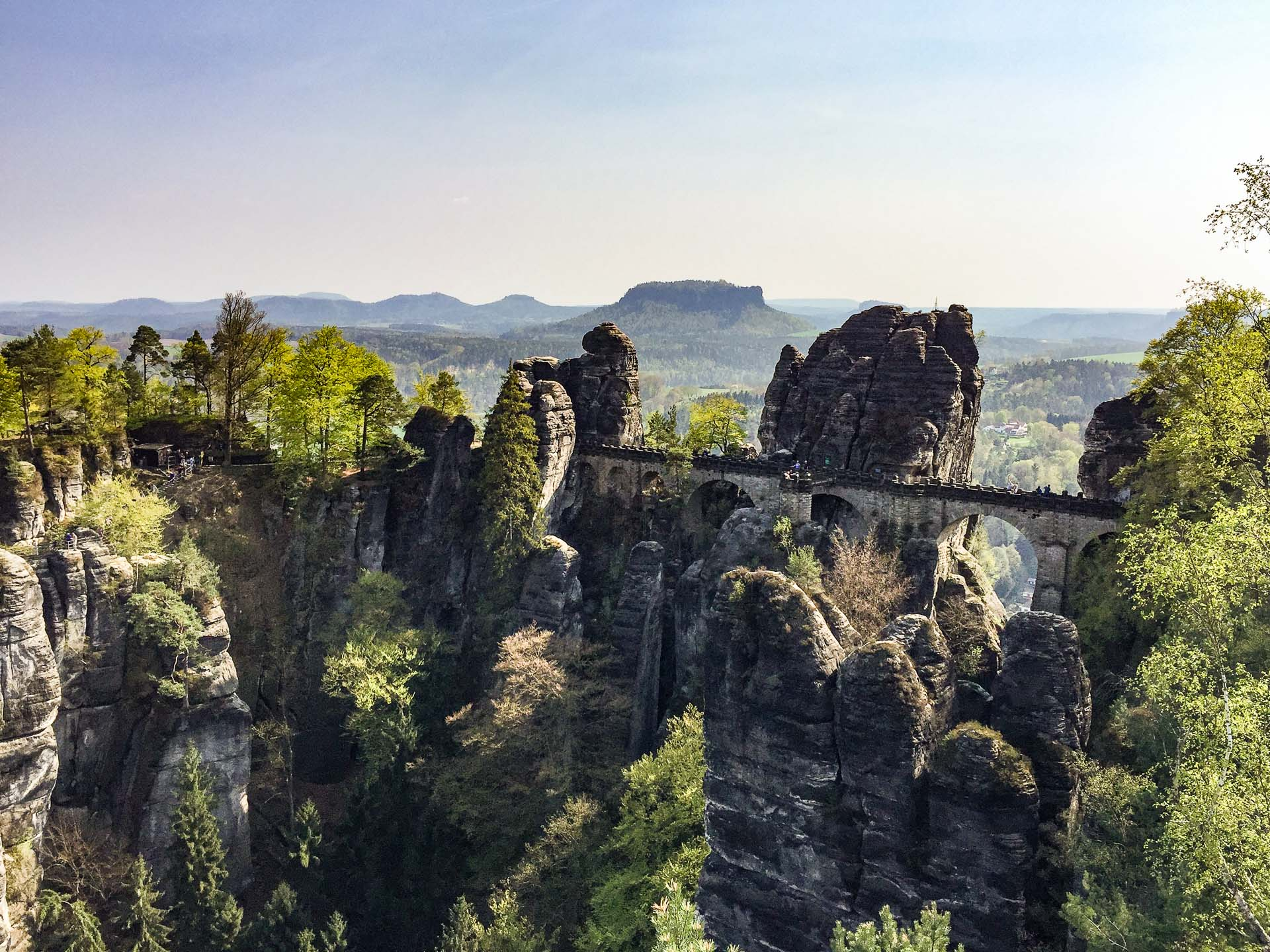 Bastei Bridge Saxon Switzerland in Germany with Kids