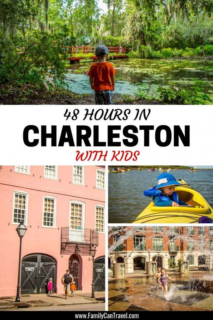 How to spend 2 days in Charleston, South Carolina with Kids #charleston #southcarolina #travelwithkids | Charleston with Kids | Things to do | What to see | Itinerary | Charleston with kids | Rainbow Road | South Carolina Aquarium | Kayaking with kids | City Market | Waterfront Park | Magnolia Plantation with Kids