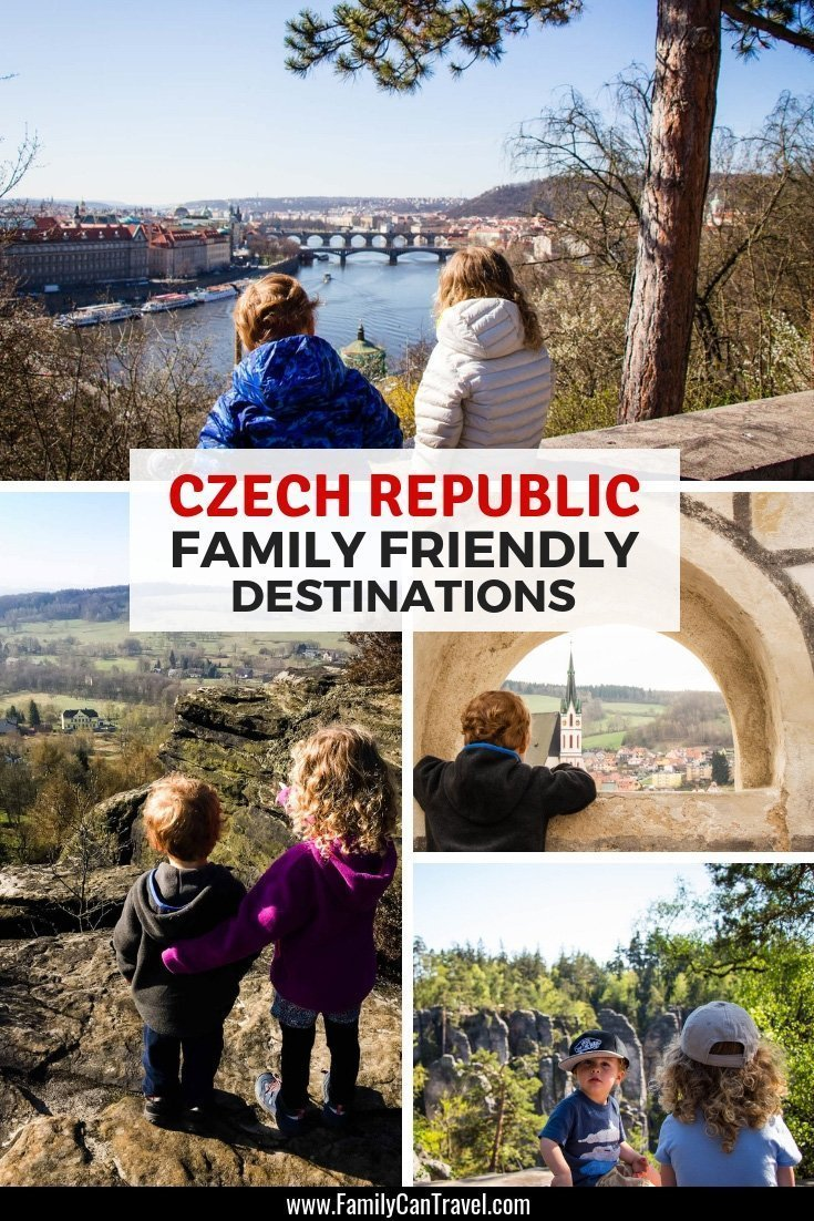 Planning a trip to Czech Republic with kids? Don't miss these amazing family friendly destinations in the Czech Republic! #czechrepublic #prague #ceskykrumlov #karlovyvary | Travel with children | Itinerary | Things to do | Trip planning | Travel with kids | Czech Republic | Family Travel | Karlovy Vary | Prague | Cesky Krumlov | Bohemian Switzerland | Bohemian Paradise