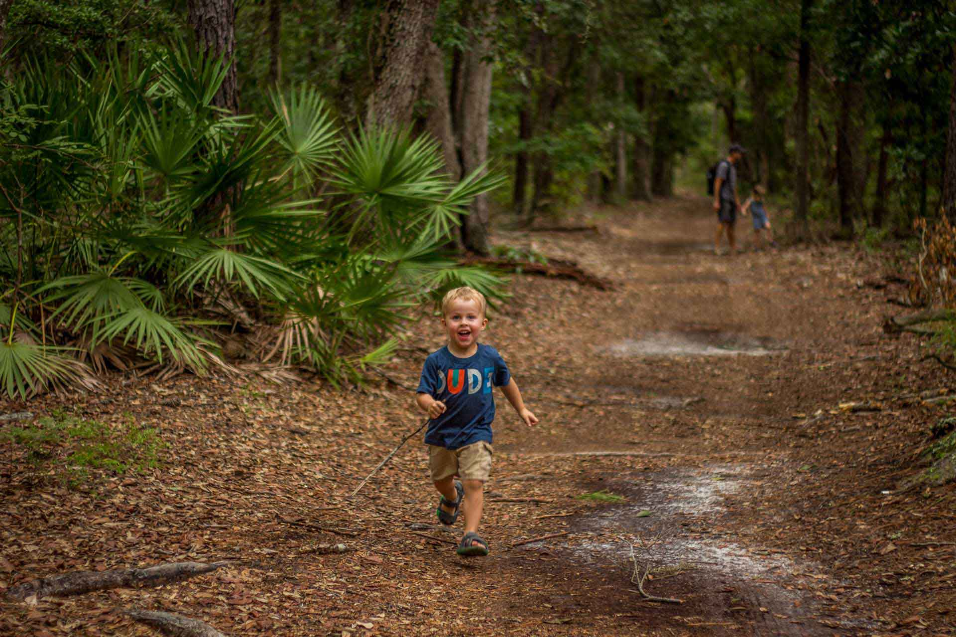 Family Can Travel - 2 Days in Savannah with Kids - Enjoying a short hike at Wormsloe Historic Site