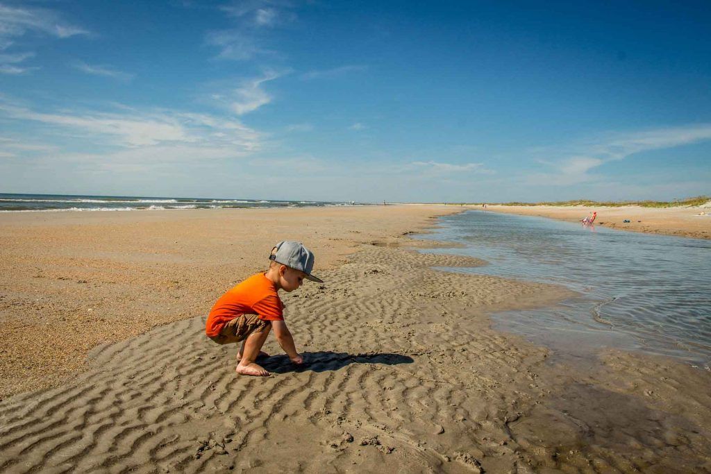 road trip southern us with kids -Masonboro Island, Wilmington, NC