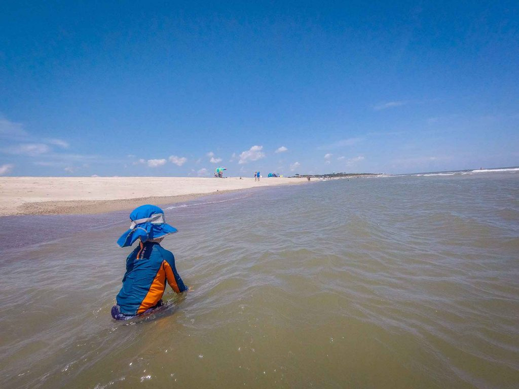 southern usa road trip with kids - beach destinations - Wilmington, North Carolina - Fort Fischer Recreational Area