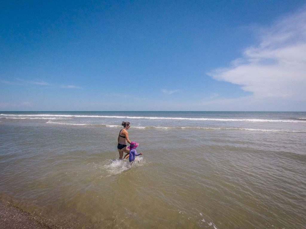 things to do in Wilmington with kids - the beach at Fort Fischer Recreational Area